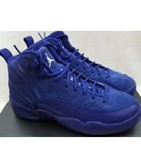 Nike Air Jordan 12 XII Retro GS BG Royal Blue Suede 153265-400 Size 5.5Y... - $178.19