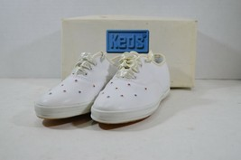 Vintage 90s Keds New Girls 2.5 Sparkling Gems Leather Casual Lace Up Sho... - $24.36