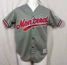 MLB 1992 CCM Maska Montreal Expos Away Road Jersey Real Crest Adult sz S... - $42.56