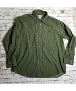 Columbia Vertex Button Up Shirt Mens XL Long Sleeve Green Check Casual Outdoor - $17.95