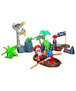 Playmobil LOT Pirate Stronghold 5808 5809 3 Pirates Cannon Skull-Tree Pe... - $19.95