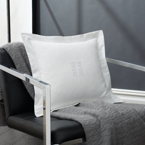 Ralph Lauren Throw Pillows Home Goods : Lauren Suite by Ralph Lauren Bedding White Pique Square Monogram Throw Pillow... - Bedding