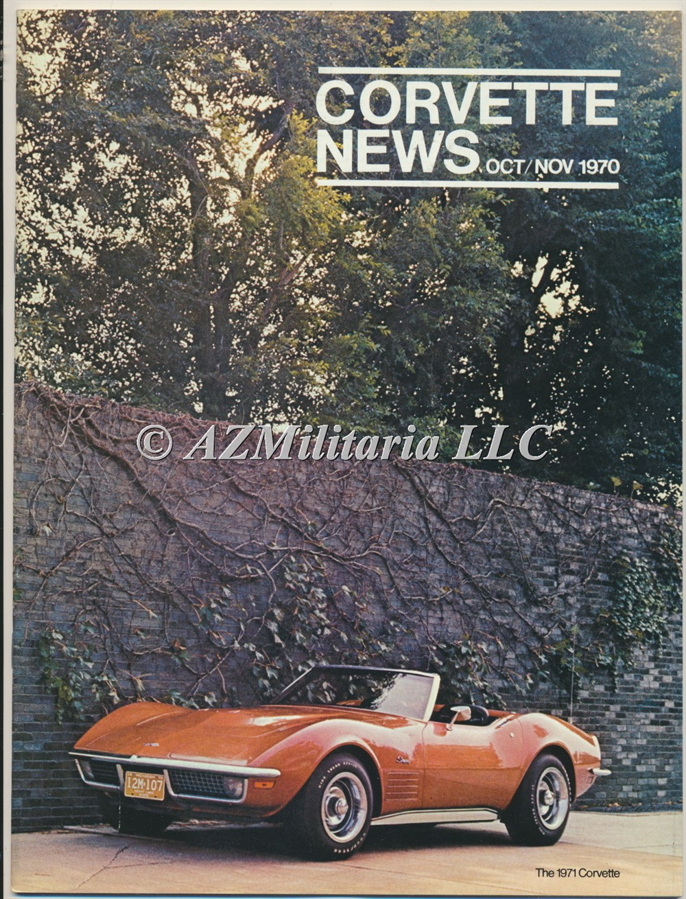 Primary image for Corvette News Oct/Nov 1970