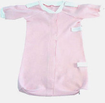 Preemie Girls Precious Pink Bag Gown 3-6 Pounds - $15.00