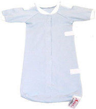 Preemie Boys Beggin' for Hugs Blue Bag Gown 3-6 Pounds - $15.00