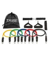11pc Premium Resistance Workout Bands Set W Door Anchor Home Exercise Tr... - $33.59