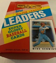 10 packs of 1988 Topps League Leaders Baseball Cards - 7 Glossy Cards Per Pack - $12.99