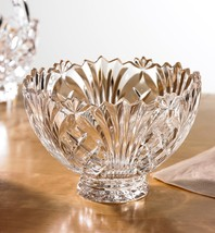 Fifth Avenue 24% LEAD Crystal 'Wellington' ROUND FOOTED 9-IN MADE IN POLAND NEW - $49.60