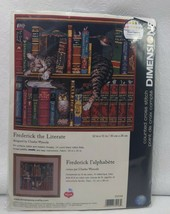 Dimensions Frederick the Literate Cat Counted Cross Stitch Kit 35048 C Wysocki - $19.80
