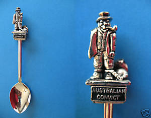 Primary image for AUSTRALIA Souvenir Collector Spoon Australian Prisoner CONVICT Ball Chain PRISON