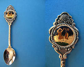 Primary image for FIJI Souvenir Collector Spoon Collectible Fijian Native FIRE WALKER