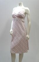 J Crew Pink Pinstripe Sun Dress, Pastel Summer Spaghetti Strap-Size S - $47.99