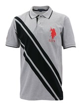 NEW US POLO ASSN MEN'S PREMIUM ATHLETIC CLASSIC COTTON GOLF SHIRT T-SHIRT GRAY image 1