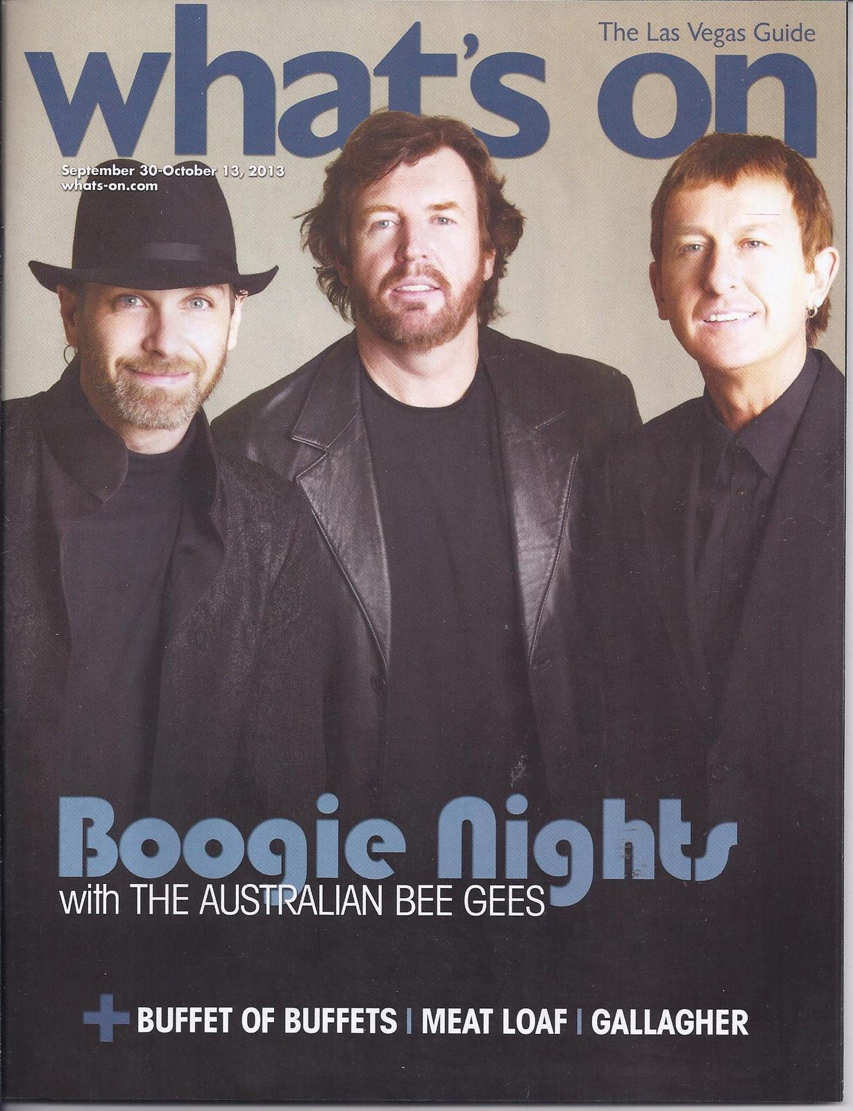 Primary image for AUSTRALIAN BEE GEES GALLAGHER / MEAT LOAF   @ WHATS ON Mag SEP  2013