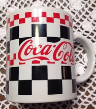 COCA COLA COFFEE MUG BLACK RED CERAMIC COKE - $16.59