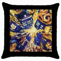 Throw Pillow Case Decorative Cushion Cover Van Gogh Style Tardis model 3... - €13,86 EUR