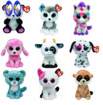 1 PCs 18cm Ty Beanie Boos big eyes original soft dog toy Leopard cat Un... - $9.90