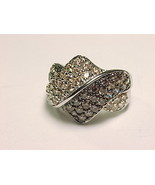 VICTORIA WIECK ABSOLUTE Chocolate and Champagne CZ RING - Size 5.25 - $135.00