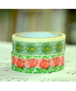 2 Rolls of Japanese Washi Tape Roll-  Daisy and... - $5.50