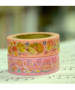 2 Rolls of Japanese Washi Tape Roll-  Bunnies' ... - $5.55