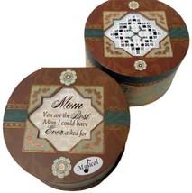 Round Elegant Music Box 6x6x3.5 hardanger cross stitch box  - $30.00