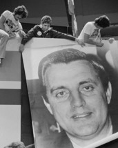 Supporters with Walter Mondale sign at the 1976 Democrat Convention Phot... - $6.16+