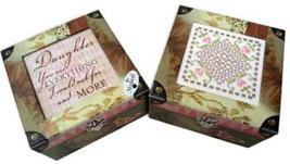 Square Elegant Music Box 6x6x3.5 hardanger cross stitch box  - $30.00