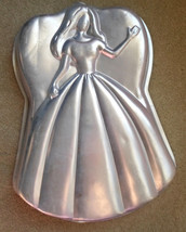 "Wilton Cake Pan 1998""Princess Barbie Mattel 2105-3550 Aluminum Mold  15""... - $15.63"