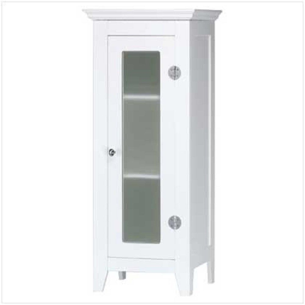 Primary image for White Bathroom Storage Cabinet New