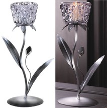 6 Candelabra Smoked Glass Candle Cup Stand Candle Holder Wedding Centerp... - $78.16
