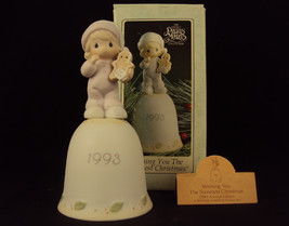 Precious Moments BELL, #530174, Wishing You The Sweetest Christmas, Butt... - $29.35