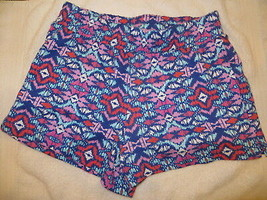 Gymboree Mix N Match Blue Aztec Print Knit Shorts Size M Medium 7-8 7 8 - $15.76