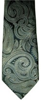 "OBO - GORGEOUS Van Heusen Men's Silk Neck Tie Navy Blue Paisley 57.5"" - $10.88"