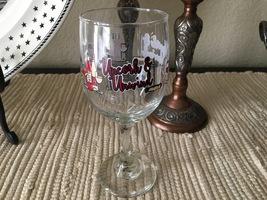 VTG 1980s Holiday Uncork & Unwind White Wine Glass - $16.00