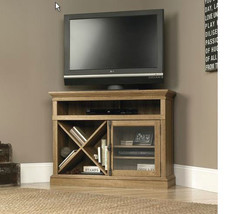"Modern Corner Entertainment TV Stand up to 42"" Oak Space Saving Storage ... - $299.99"