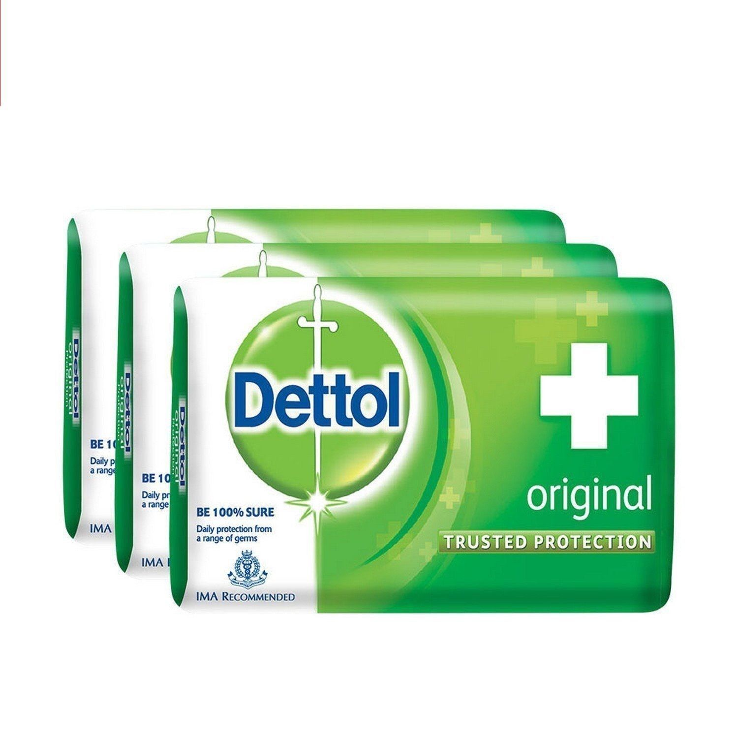 Dettol Orignal Soap Trusted Protection for Family Original 75gm ( pack of 3 )**
