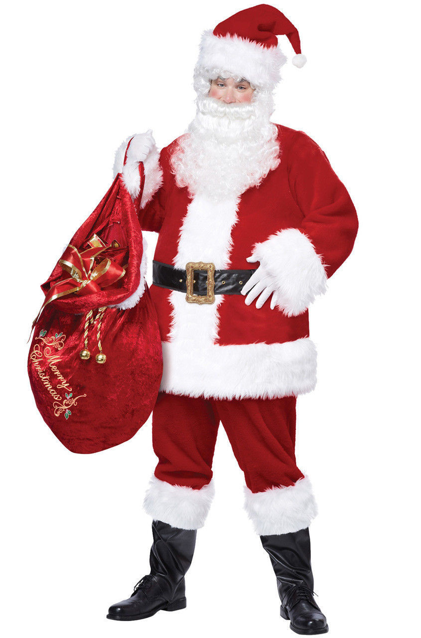 Deluxe Santa Suit Adult Christmas Costume