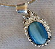 Light blue mini pendant-A