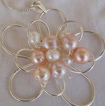 Pink and white pearls pendant  ba 1 thumb200