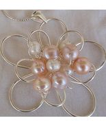 pink and white pearls pendant  B - $72.00