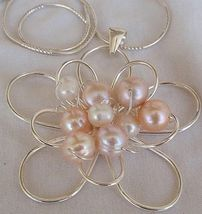 Pink and white pearls pendant  ba 4 thumb200
