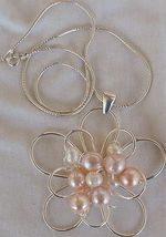 Pink and white pearls pendant  ba 5 thumb200