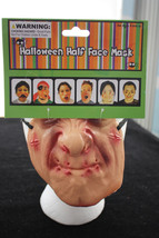 Funny Horror Gag--HALF MASK--Cosplay Torture Costume Mardi Gras Accessor... - $3.93