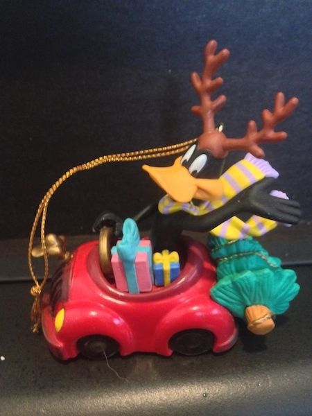 Primary image for Matrix Daffy Duck in Car Christmas Ornament 1996 Looney Tunes