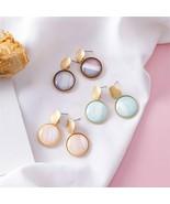 Earrings Korean Fashion Temperament Disc Literary Sweet Abstract Texture... - $6.91