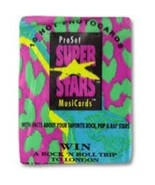 1991 Pro Set SUPER STARS MUSICARDS Unopened Wax Pack - $0.89