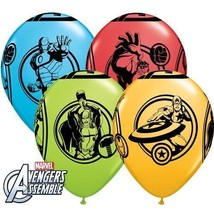 5 Marvel Avengers Hero Non Message Latex Balloons. - $3.81