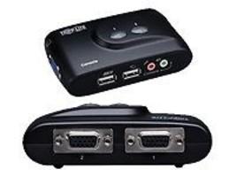 Tripp Lite B004-VUA2-K-R 2-Ports Ext Compact KVM Switch USB/ 2 Cble Kits... - $19.99