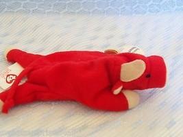 SMALL ty Mcdonalds teenie beanie babies RED BULL Snort  plush animal - $9.89