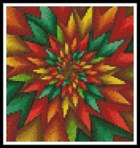 Mini Christmas Fractal holiday cross stitch chart Artecy Cross Stitch Chart - $7.20